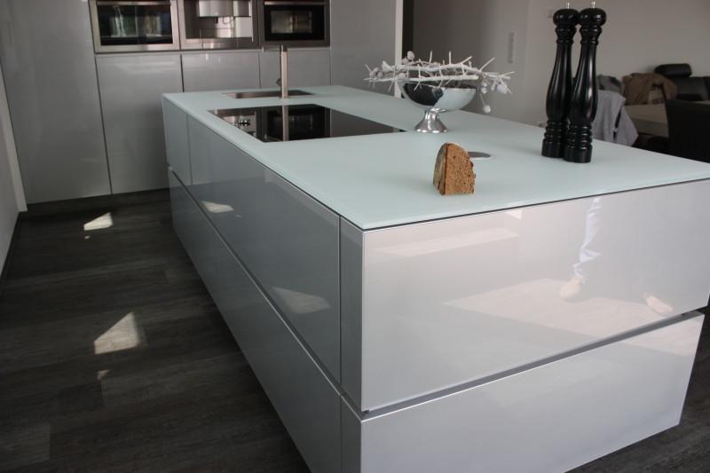 Design Küche Echtglas