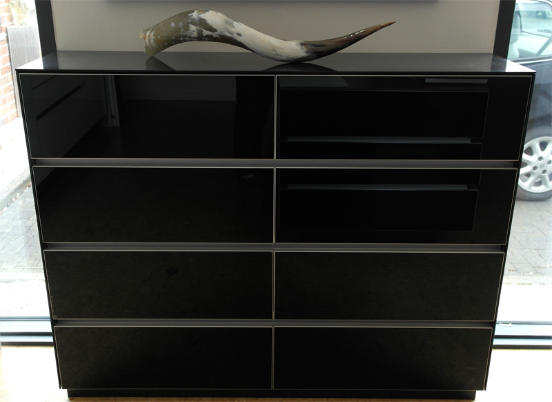 Design Sideboard Black Hochglanz
