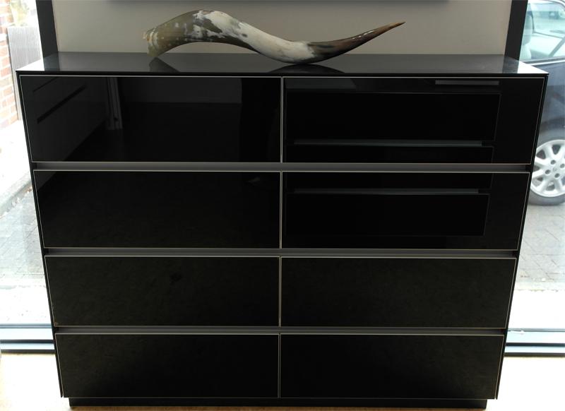 Design Sideboard Black Hochglanz