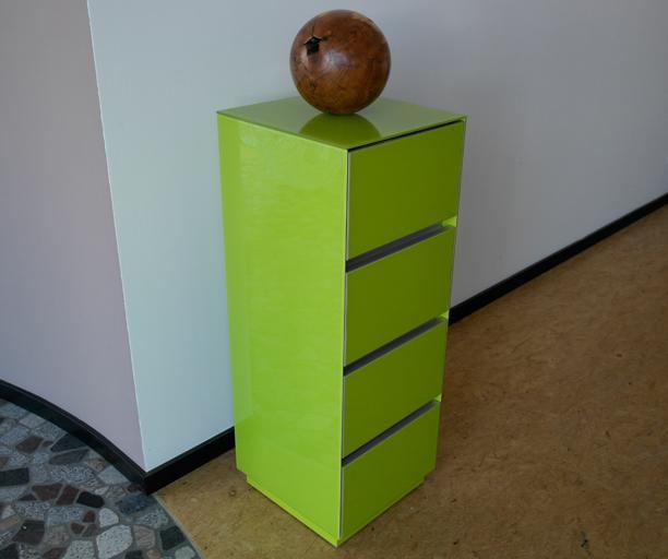 Design Echtglas Sekretär G