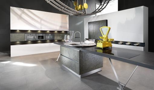 Design Küche Light Fridge Gold Green