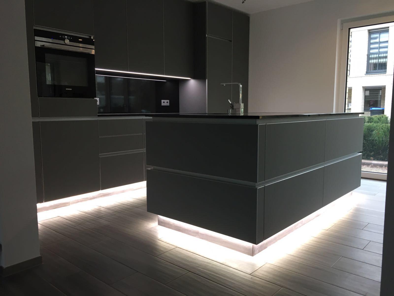 Küche Design Glas-Matt Granit K › Einrichtung-Exklusiv ✓ Möbel und ...